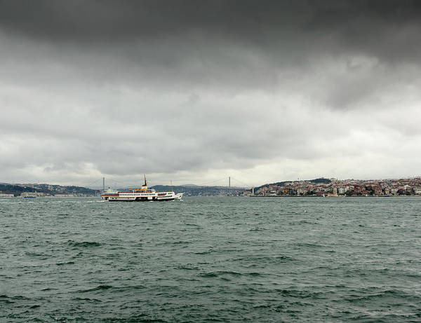 Bosphorus Bridge Photograph - Rainy Day In Istanbul by Funky-data