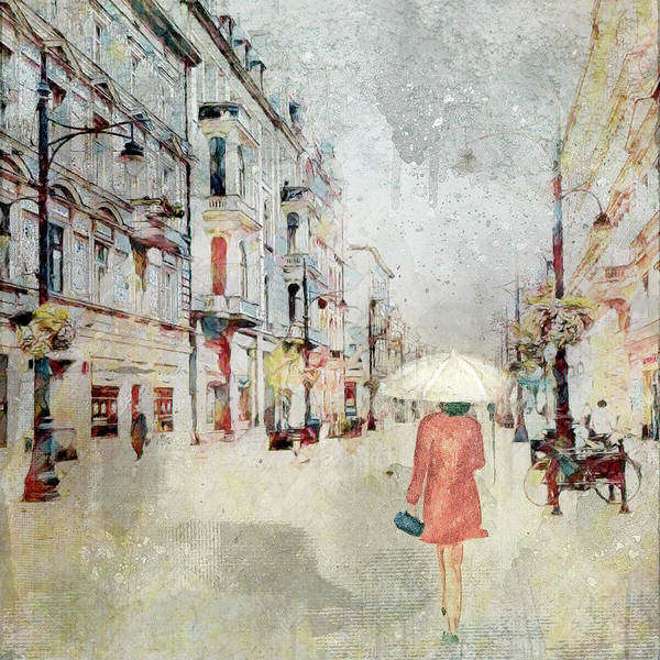 Digital Art - Rainy Day In The City by Marilyn Wilson