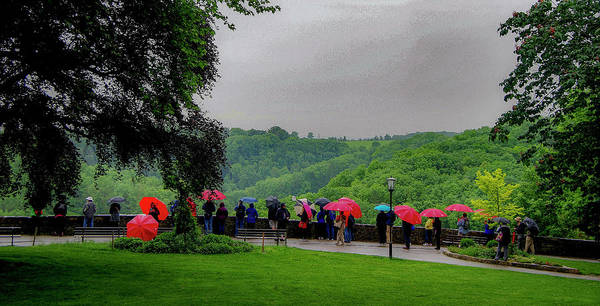 Photograph - Rainy Day Umbrellas by Phyllis Spoor