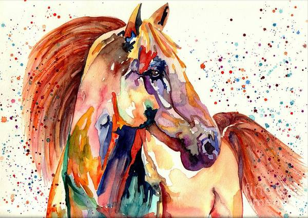 Wall Art - Painting - Rainy Horse by Suzann Sines