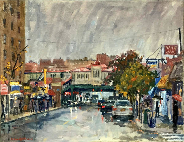 Painting - Rainy Morning 231st Street The Bronx by Thor Wickstrom