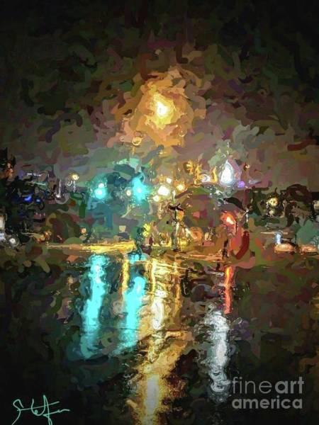 Digital Art - Rainy Night In Charlotte by Stefan Duncan