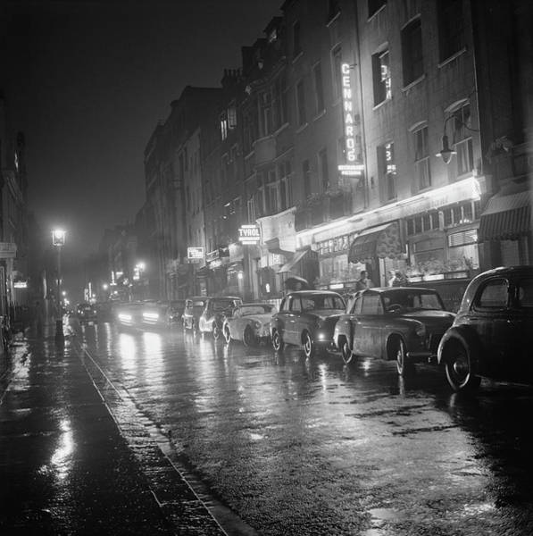 Night Photograph - Rainy Night In Soho by Bips