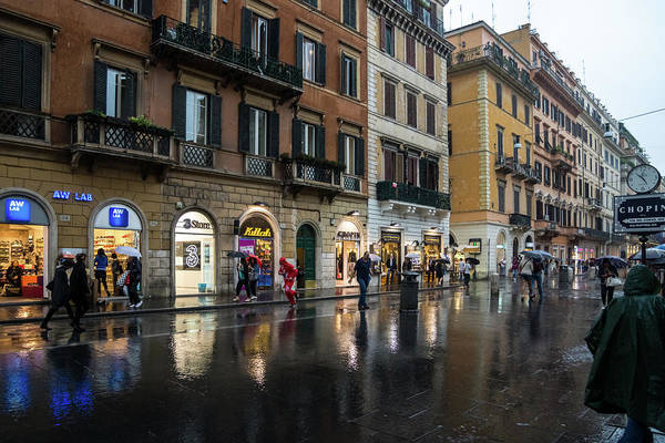 Photograph - Rainy Rome - Via Del Corso Take Four by Georgia Mizuleva