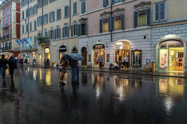Photograph - Rainy Rome - Via Del Corso Take One by Georgia Mizuleva
