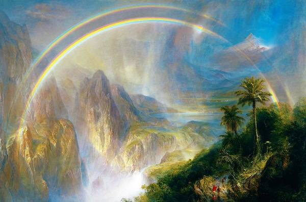 Wall Art - Painting - Rainy Season In The Tropics - Digital Remastered Edition by Frederic Edwin Church