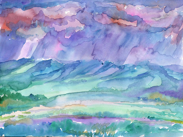 Painting - Rainy Summer Landscape by Irina Dobrotsvet