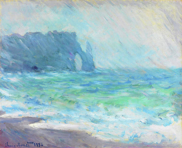 Wall Art - Painting - Rainy Weather, Etretat - Digital Remastered Edition by Claude Monet