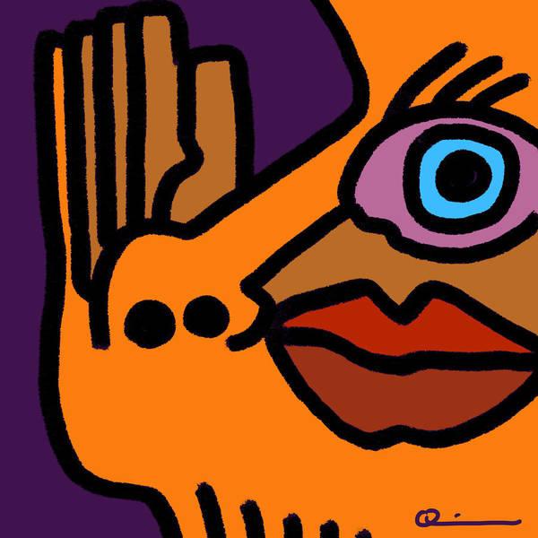 Digital Art - Raised Hand by Jeff Quiros