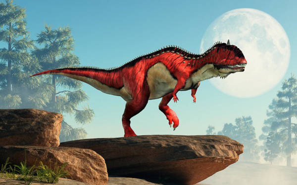 Wall Art - Digital Art - Rajasaurus by Daniel Eskridge