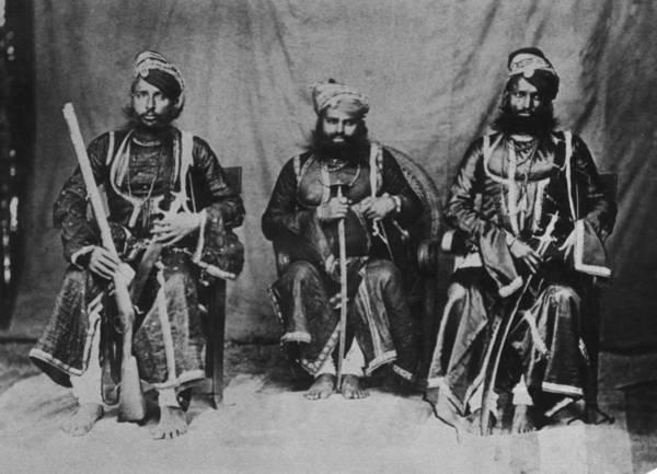Rifle Photograph - Rajput Warriors by Henry Guttmann Collection