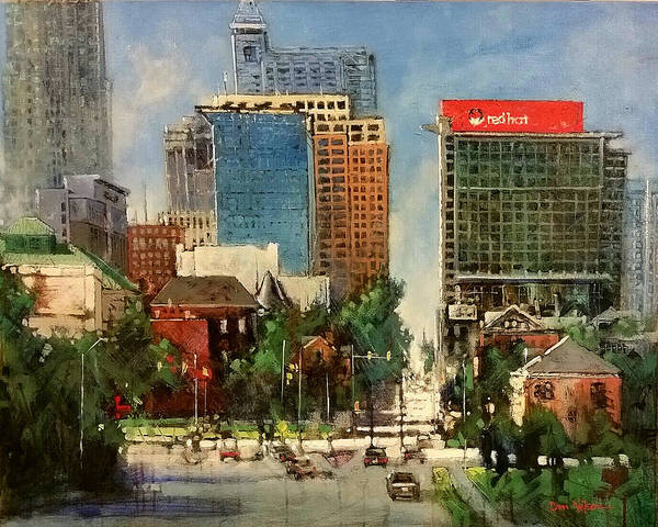 Wall Art - Painting - Raleigh From South Wilmington by Dan Nelson