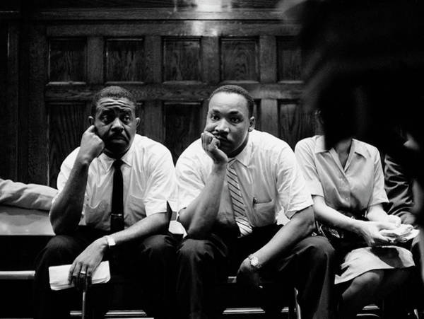 Photograph - Ralph Abernathy And Martin Luther King by Paul Schutzer