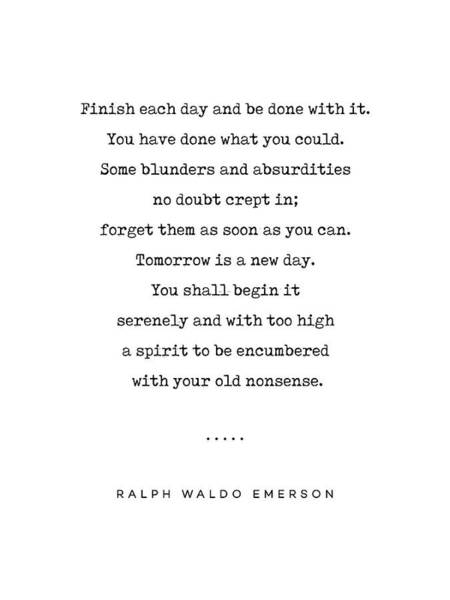 Wall Art - Mixed Media - Ralph Waldo Emerson Quote 01 - Minimal, Sophisticated, Modern, Classy Typewriter Print - Motivation by Studio Grafiikka