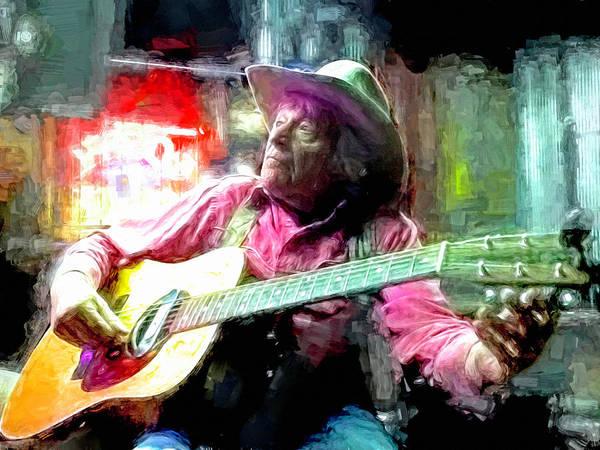 Folk Singer Mixed Media - Ramblin Jack Elliott by Mal Bray