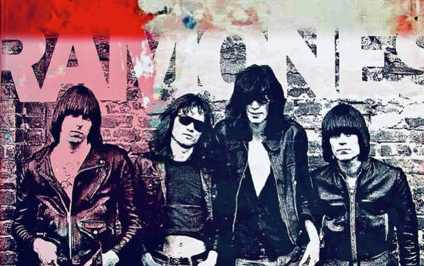 Mixed Media - Ramones by Jayime Jean