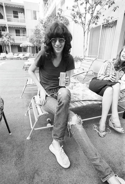Joey Photograph - Ramones Singer Lounges by Michael Ochs Archives