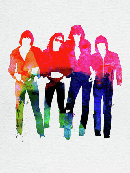 Rock And Roll Mixed Media - Ramones Watercolor by Naxart Studio