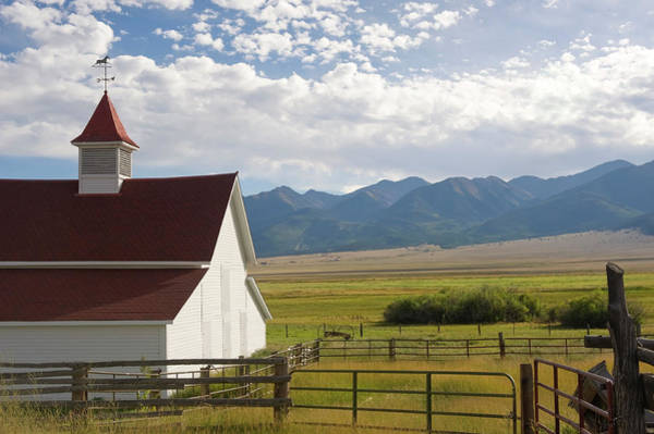 Sangre De Cristo Photograph - Ranch Barn, Fields And Mountains by Chapin31