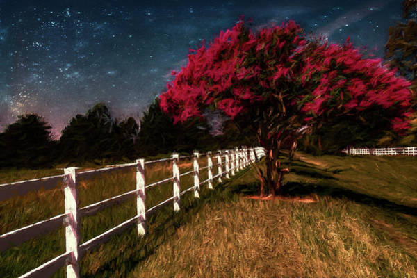 Wall Art - Digital Art - Ranch By Moonlight Ap by Dan Carmichael