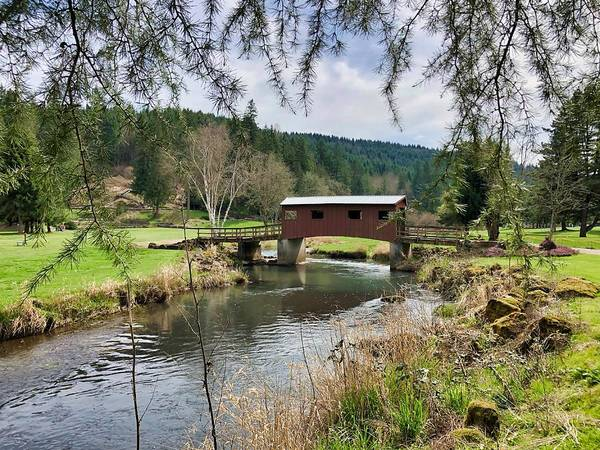 Photograph - Ranch Hills Covered Bridge by Brian Eberly