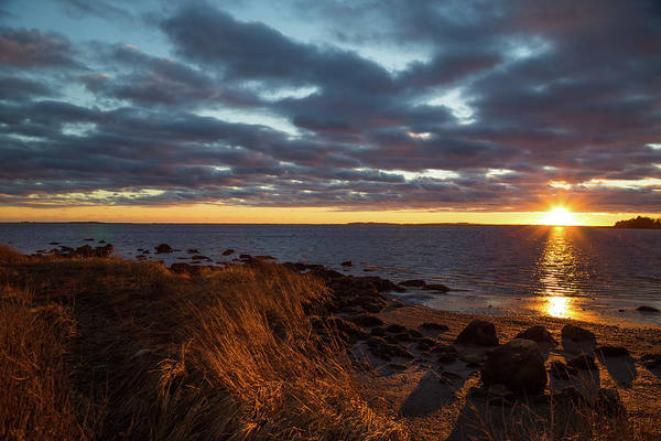 Photograph - Randall Point Sunset At Barn Island - Stonington Ct by Kirkodd Photography Of New England