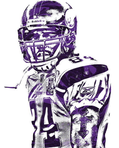 Wall Art - Mixed Media - Randy Moss Minnesota Vikings Pixel Art 1 by Joe Hamilton