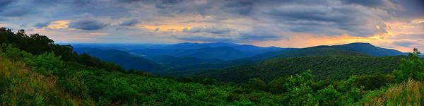 Photograph - Range View At Sunset Panorama 4 To 1 by Raymond Salani III