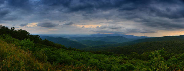 Photograph - Range View In Shenandoah National Park Storm by Raymond Salani III