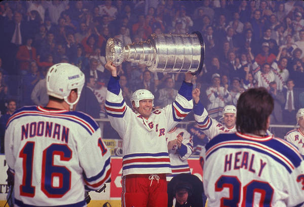 Ice Hockey Photograph - Rangers Triumphant by B Bennett