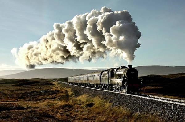 Moor Photograph - Rannoch Moor Dawn by Gordon Edgar Images