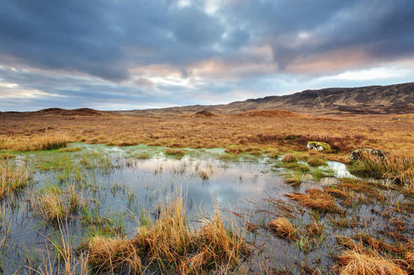 Moored Photograph - Rannoch Moor, Glencoe, Scotland by Chris Hepburn