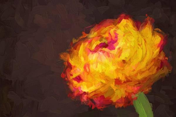 Wall Art - Painting - Ranunculus Flower by ArtMarketJapan
