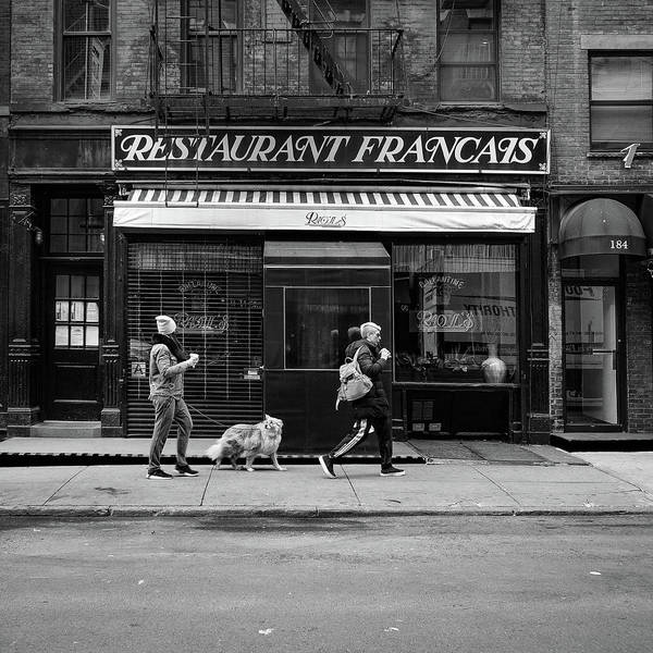 Storefront Photograph - Raoul's In Black And White by Michael Gerbino