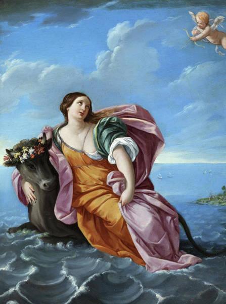 Wall Art - Painting - Rape Of Europa by Elisabetta Sirani