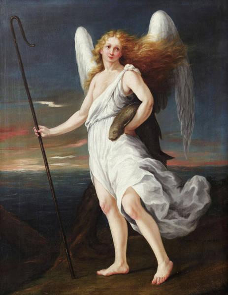 Gabriel Painting - Raphael Archangel by Agustin Arrieta