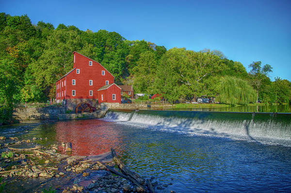 Photograph - Raritan River - Clinton New Jersey - Red Mill by Bill Cannon