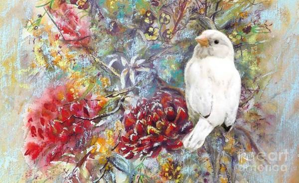 Painting - Rare White Sparrow - Landscape by Ryn Shell