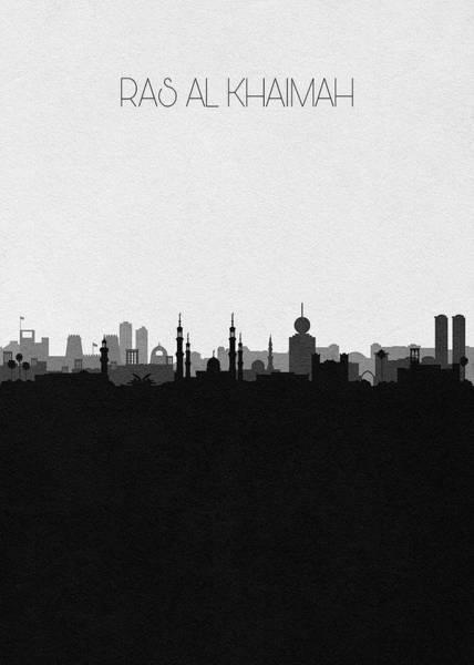 Ra Digital Art - Ras Al Khaimah Cityscape Art by Inspirowl Design