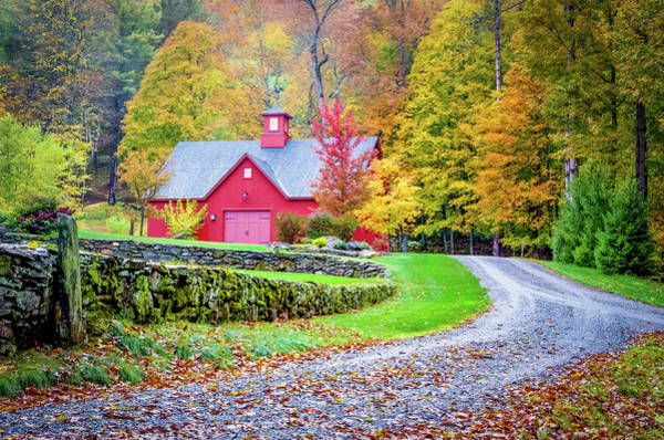 Photograph - Raspberry Red Barn by Christina DeAngelo
