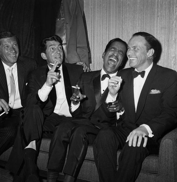 Laughing Photograph - Rat Pack At Carnegie Hall by Bettmann