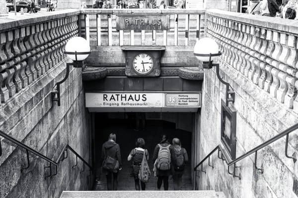 Rathaus Photograph - Rathaus Station Hamburg by John Rizzuto