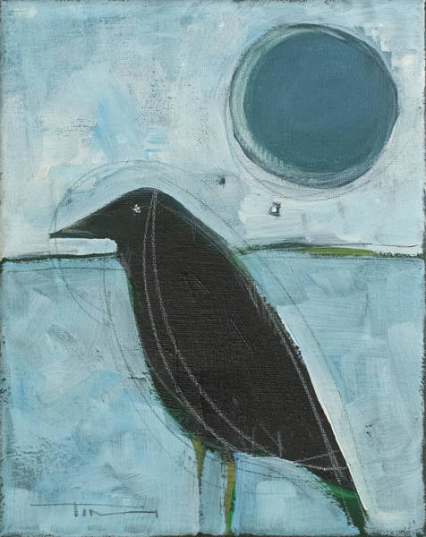 Painting - Raven Moon #3 by Tim Nyberg