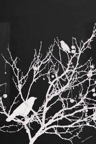 Digital Art - Raven - White Over Black by Serge Averbukh