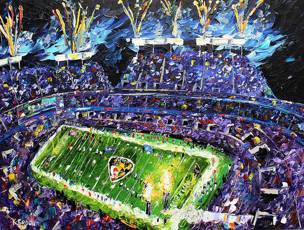 Painting - Ravens Win by Kevin Brown
