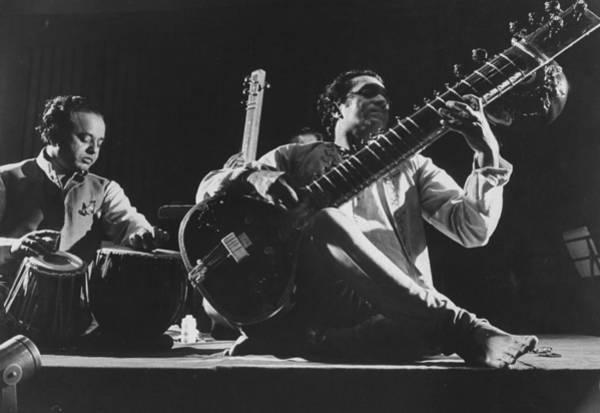 Photograph - Ravi Shankar by Loomis Dean