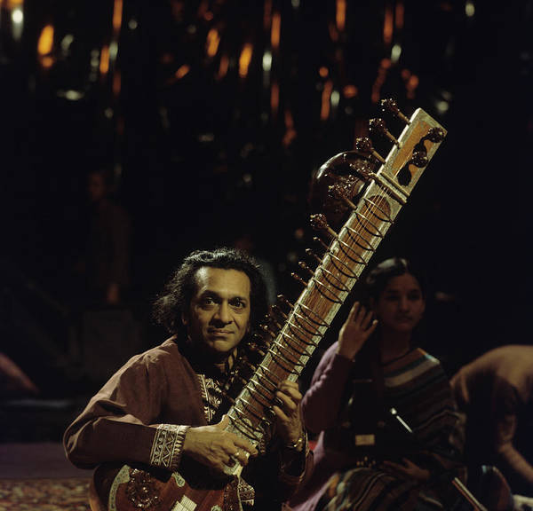 Sitar Photograph - Ravi Shankar Performs On Tv Show by Tony Russell
