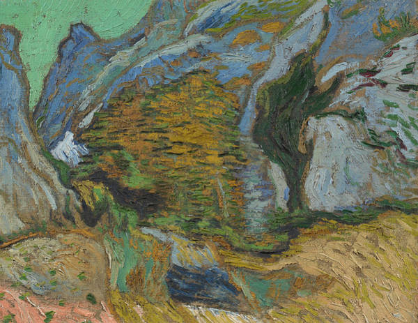 Wall Art - Painting - Ravine With A Small Stream by Vincent van Gogh
