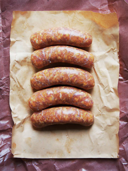 Raw Meat Photograph - Raw Italian Sausages by Andrew Kolb