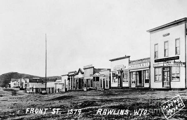 Photograph - Rawlins Wyoming, 1879 by Granger